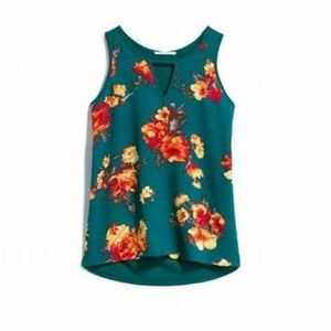 Market & Spruce Embry Mixed Material Floral Tank